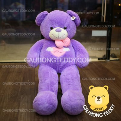 Gấu Teddy ngực tim i love you