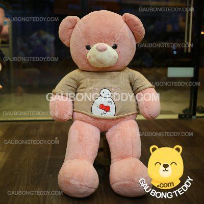 Gấu Teddy áo len Baymax lông mịn